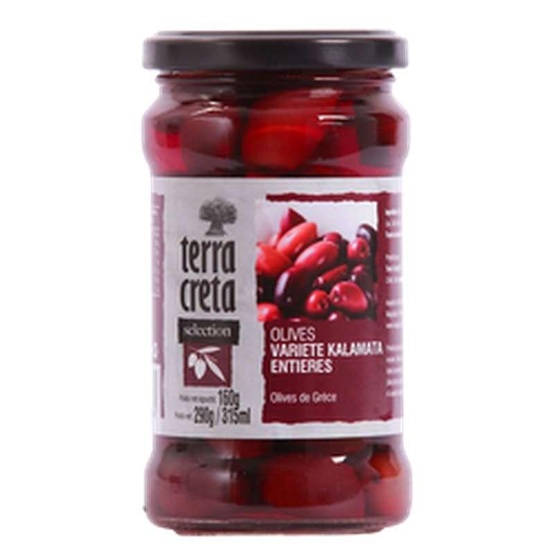 Olives entières Kalamata, Terra Creta (160 g)