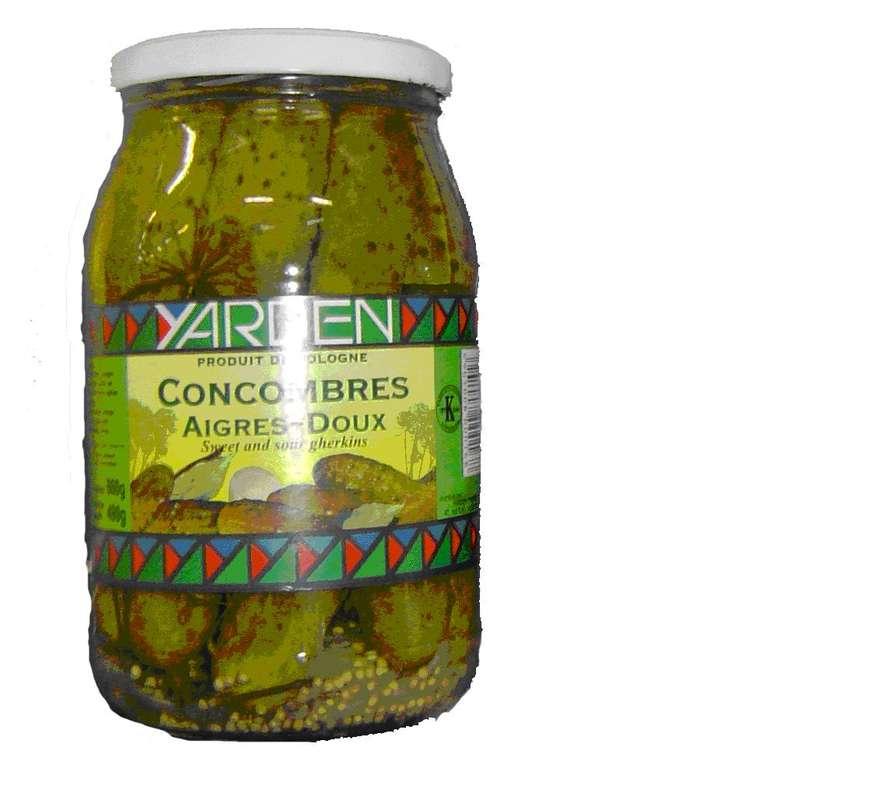Cornichons aigre doux, Yarden (860 g)