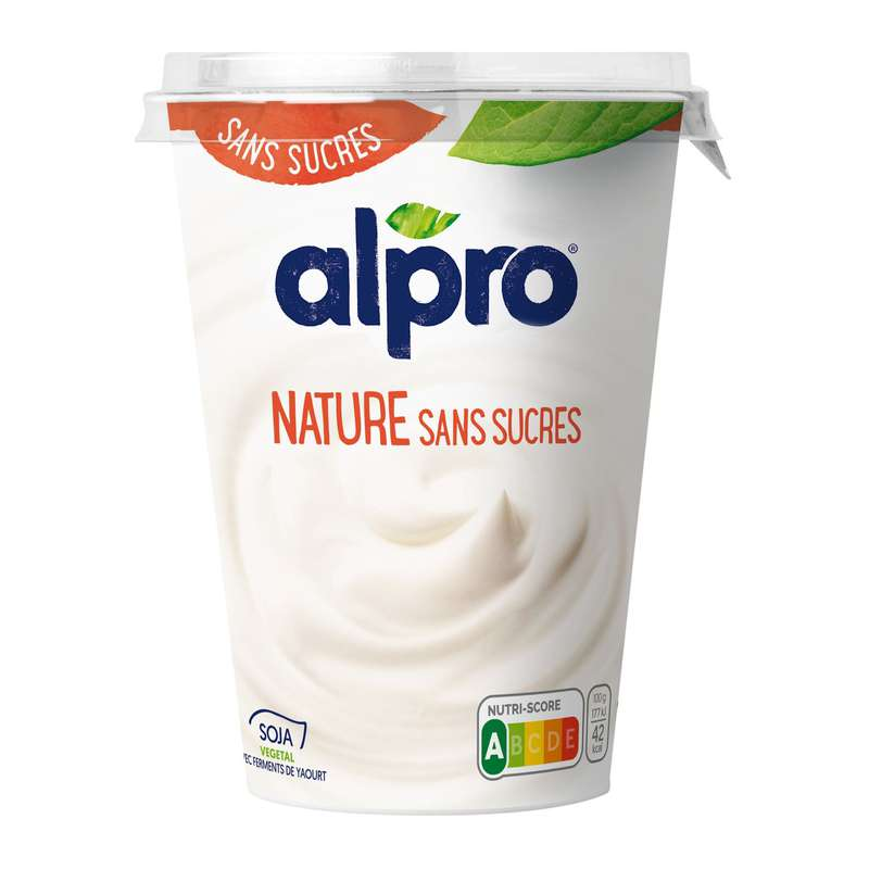 Dessert soja nature sans sucre, Alpro (500 g)
