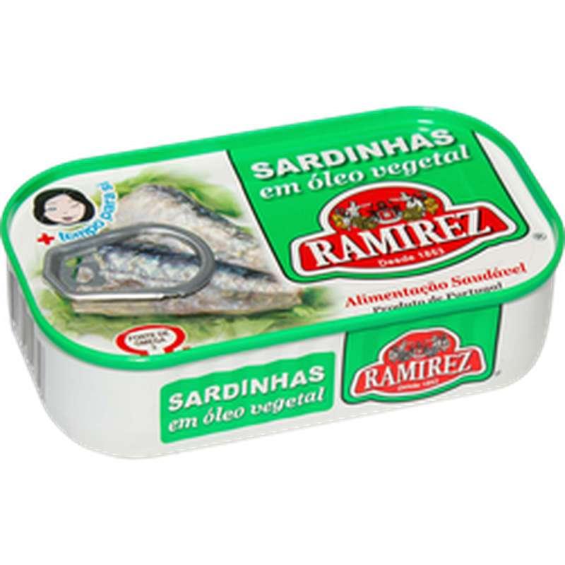 Sardines à l'huile végétale, Ramirez (125 g)