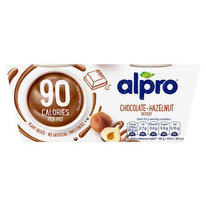 Dessert à base de soja chocolat noisette, Alpro (2 x 113 g)