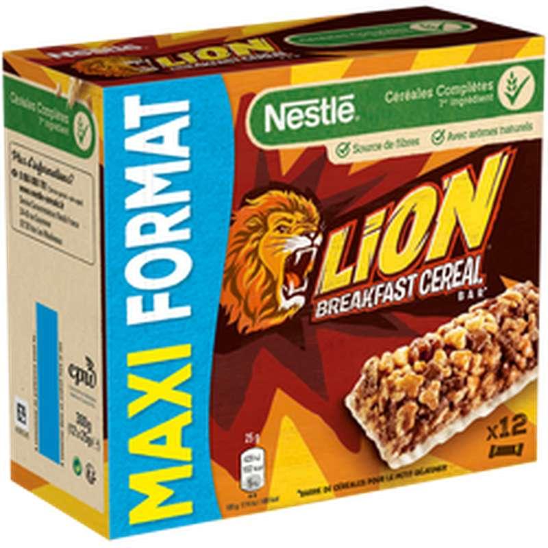 Barres Lion Maxi format, Nestlé (12 x 25 g)