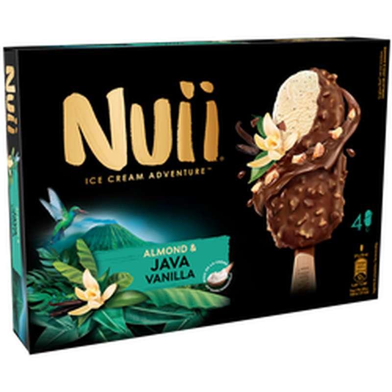 Bâtonnets vanille, chocolat au lait d'amandes, Nuii (x 4, 268 g)