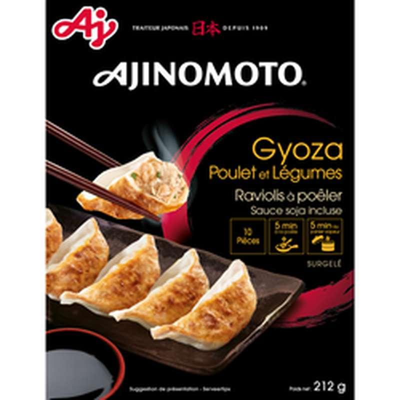 Gyoza poulet & légumes avec sauce soja, Ajinomoto (212 g)