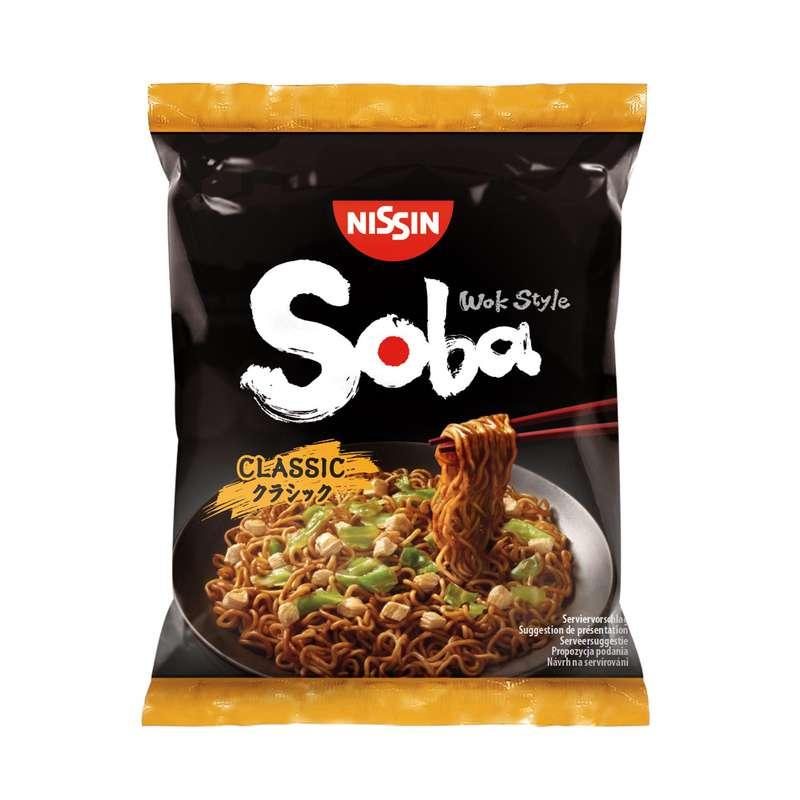 Nouilles japonaises avec sauce bœuf sukiyaki soba, Nissin (89 g)