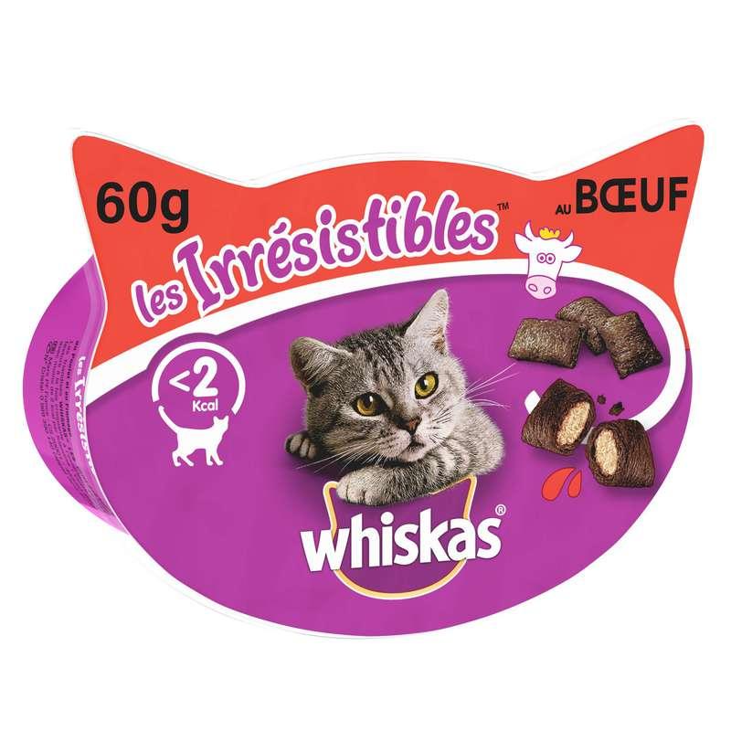 Friandise pour chats au bœuf Les Irrésistibles, Whiskas (60 g)