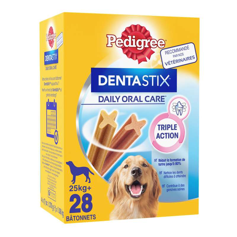 Sticks chiens Dentastix chien maxi, Pedigree (28 sticks)