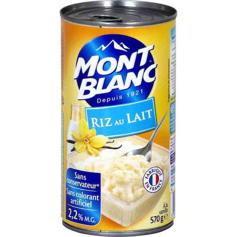 Riz au lait vanille, Mont blanc (570 g)