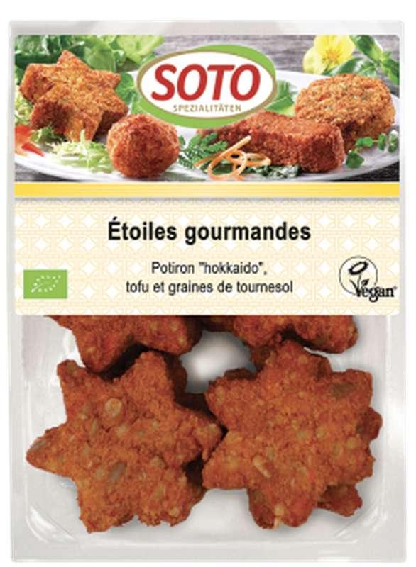 Etoiles gourmandes potiron, tofu et graines de tournesol BIO, Soto (x 8, 250 g)