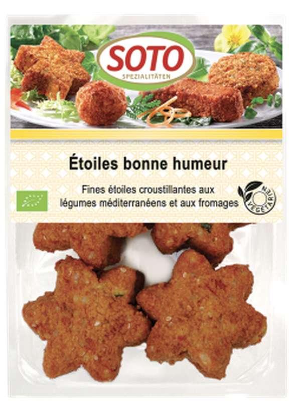 Etoiles bonne humeur légumes méditerranéens et fromage BIO, Soto (x 8, 250 g)