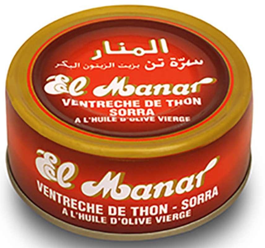 Thon ventreche à l'huile d'olives Sorra, El Manar (160 g)