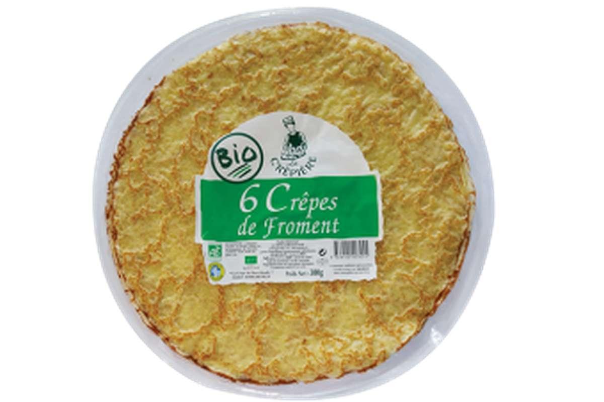 Crêpes de froment BIO, La Crêpière (x 6, 300 g)