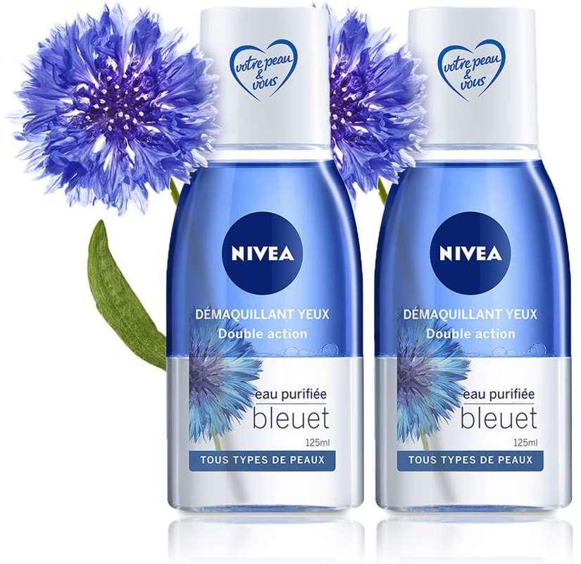 Démaquillant yeux waterproof bi-phase, Nivea LOT DE 2 (2 x 125 ml)