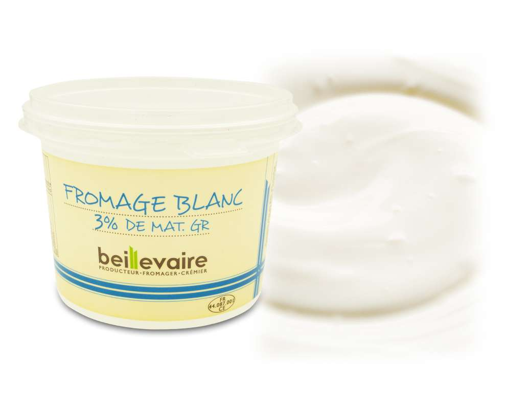Fromage blanc 3%, Beillevaire (500 g)