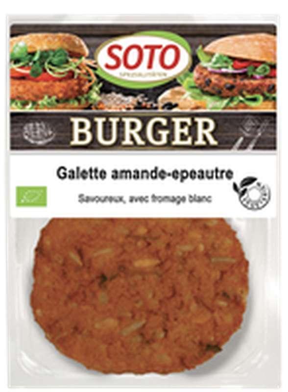 Galettes Burger amande-épeautre BIO, Soto (x 2, 200 g)