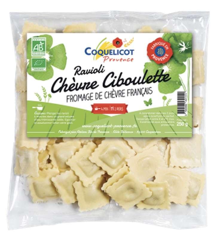 Ravioli chèvre et ciboulette BIO, Coquelicot (250 g)