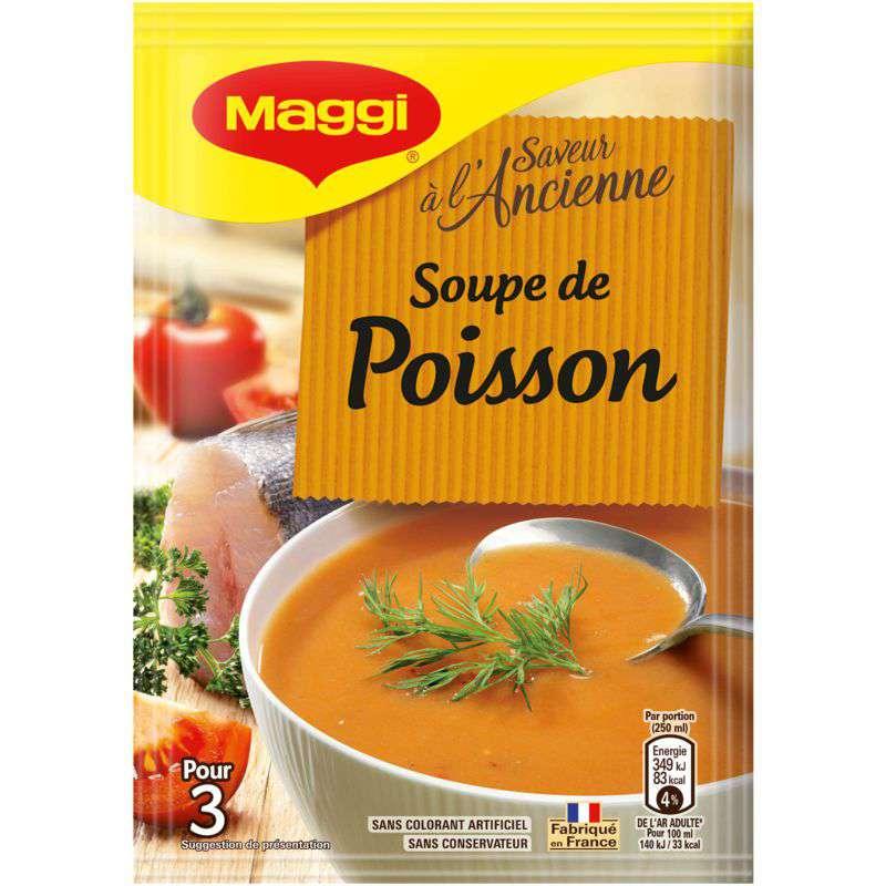 Soupe déshydratée de poisson, Maggi (75 cl)
