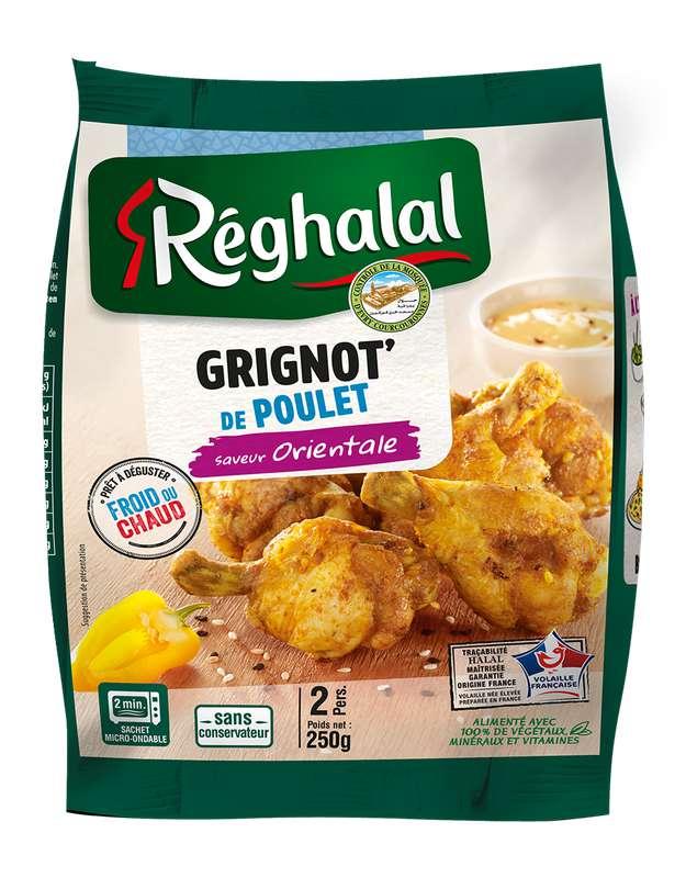 Grignottes de poulet saveur orientale, Reghalal (250 g)