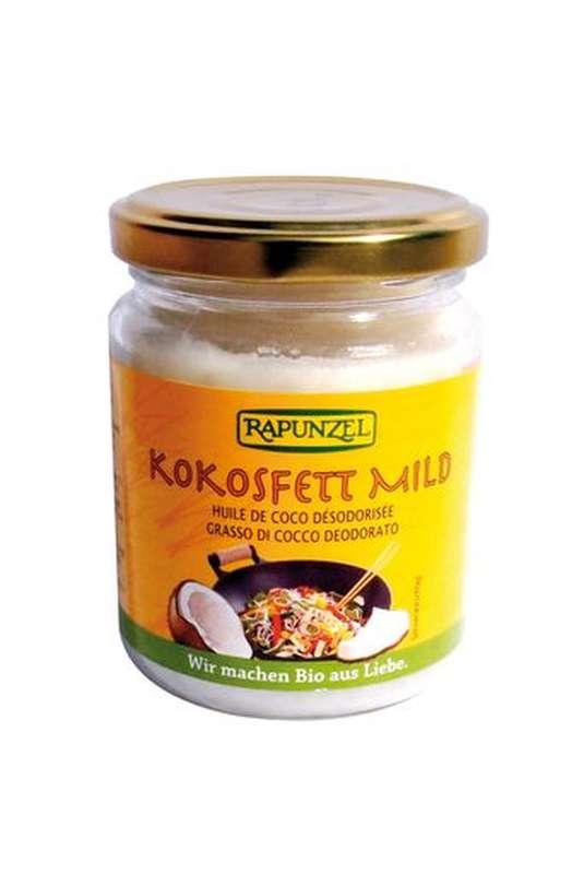 Huile de coco désodorisée BIO, Rapunzel (200 g)