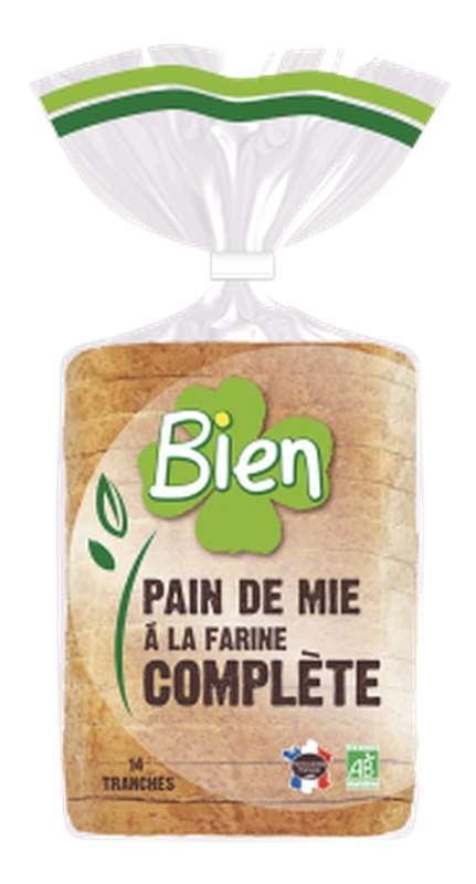 Pain de mie à la farine complète BIO, Bien Panification (500 g)