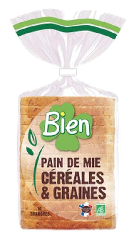 Pain de mie aux céréales et graines BIO, Bien Panification (500 g)