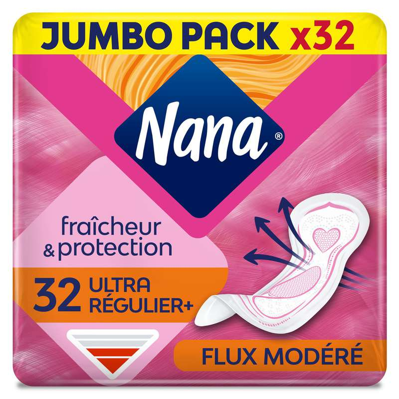 Serviettes hygiéniques Ultra Normal, Nana (x 32)