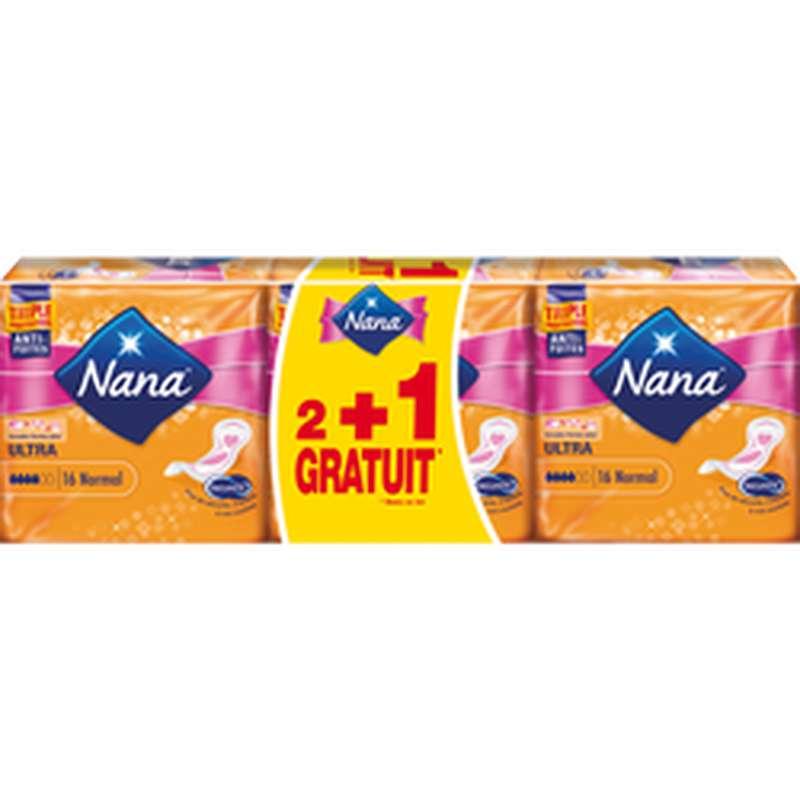 Serviettes Ultra Normal, Nana LOT DE 2 (2 x 16 + 1 offerte)