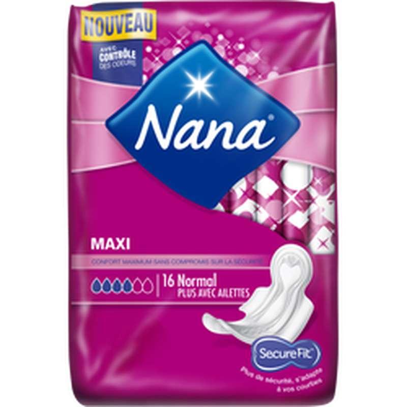 Serviettes Maxi Normal, Nana (x 16)