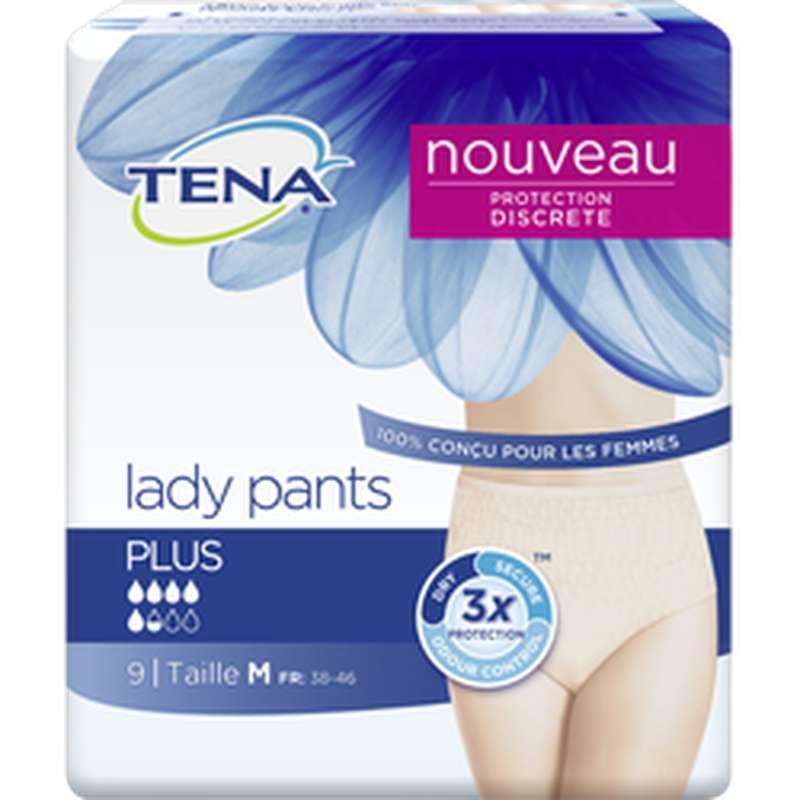 Culottes anti-fuites silhouette Plus taille M, Tena Lady (x 9)