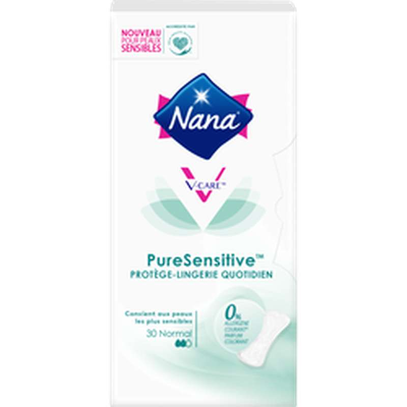 Protège-slips pure sensitive Normal, Nana (x 30)