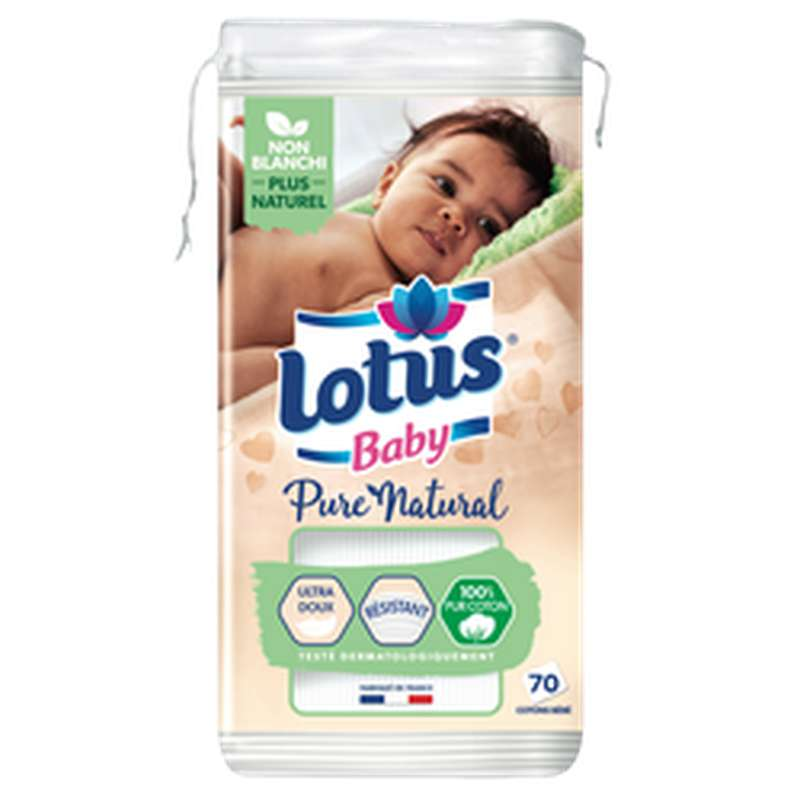 Coton Pure Natural Lotus Baby, Demak'Up (x70)