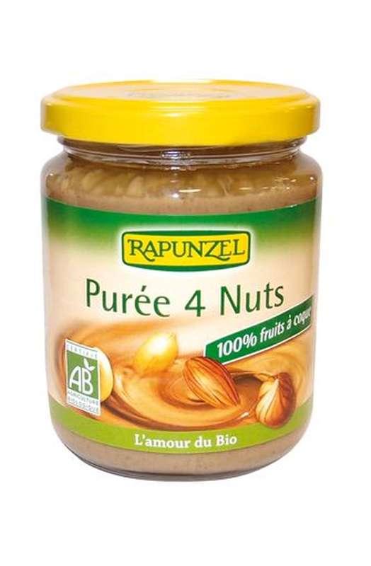 Purée 4 nuts BIO, Rapunzel (250 g)