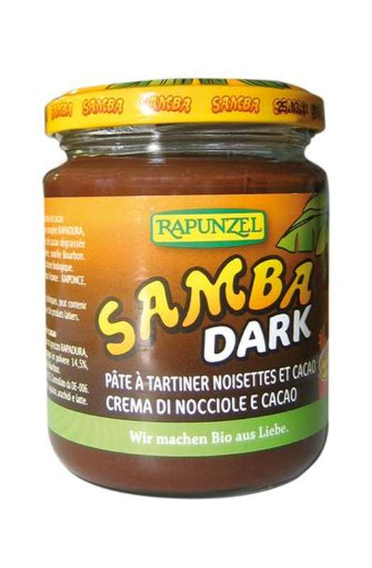 Pâte à tartiner Samba Dark BIO, Rapunzel (250 g)