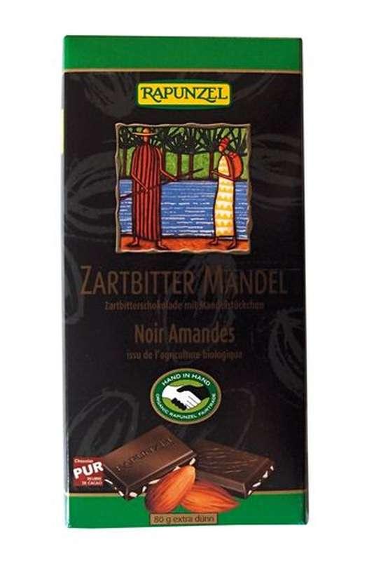 Chocolat noir aux amandes BIO, Rapunzel (80 g)