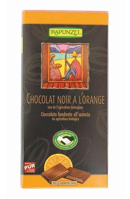 Chocolat noir à l'orange BIO, Rapunzel (80 g)