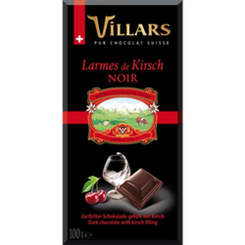 Chocolat noir aux larmes de liqueur Kirsh, Villars (100 g)