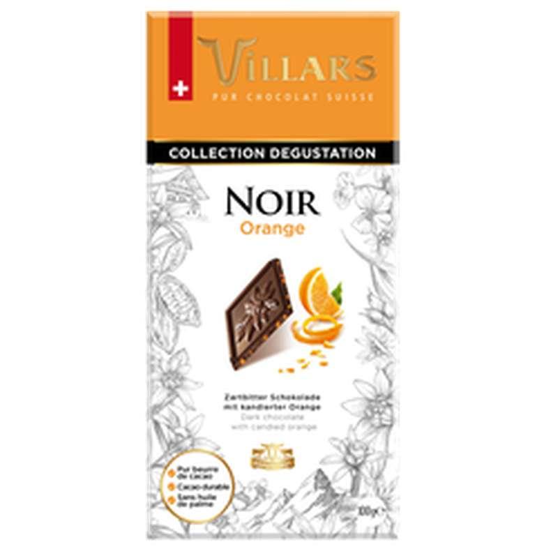 Chocolat noir dégustation à l'orange, Villars (100 g)