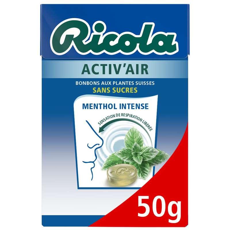 Bonbons Menthol Intensen activ'air, Ricola (50 g)