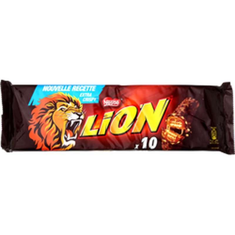 Barre au chocolat et caramel Lion, Nestle (x10, 420 g)