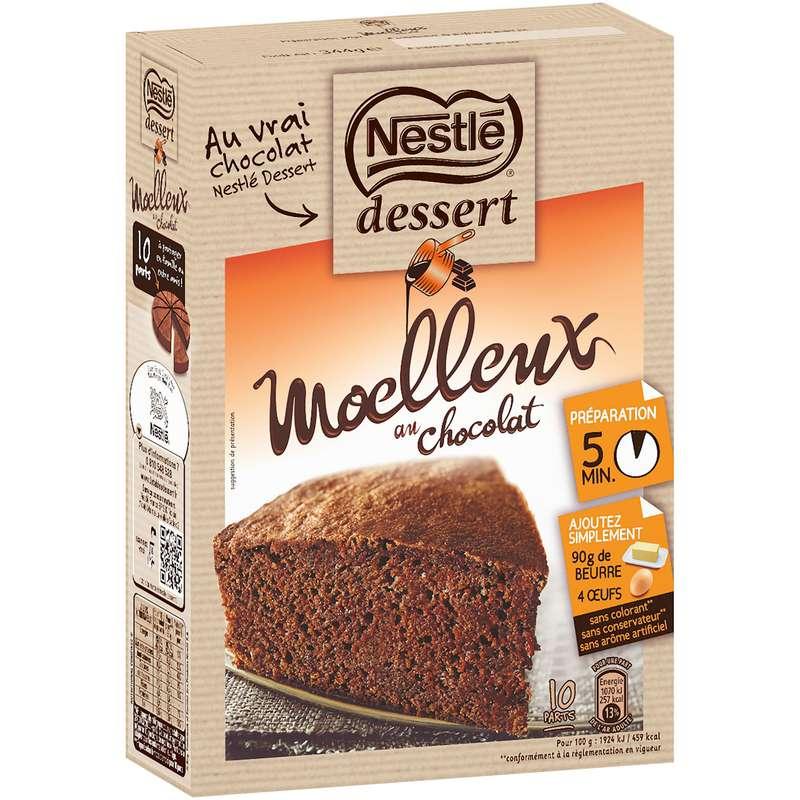 Préparation gâteau moelleux chocolat, Nestlé dessert (344 g)