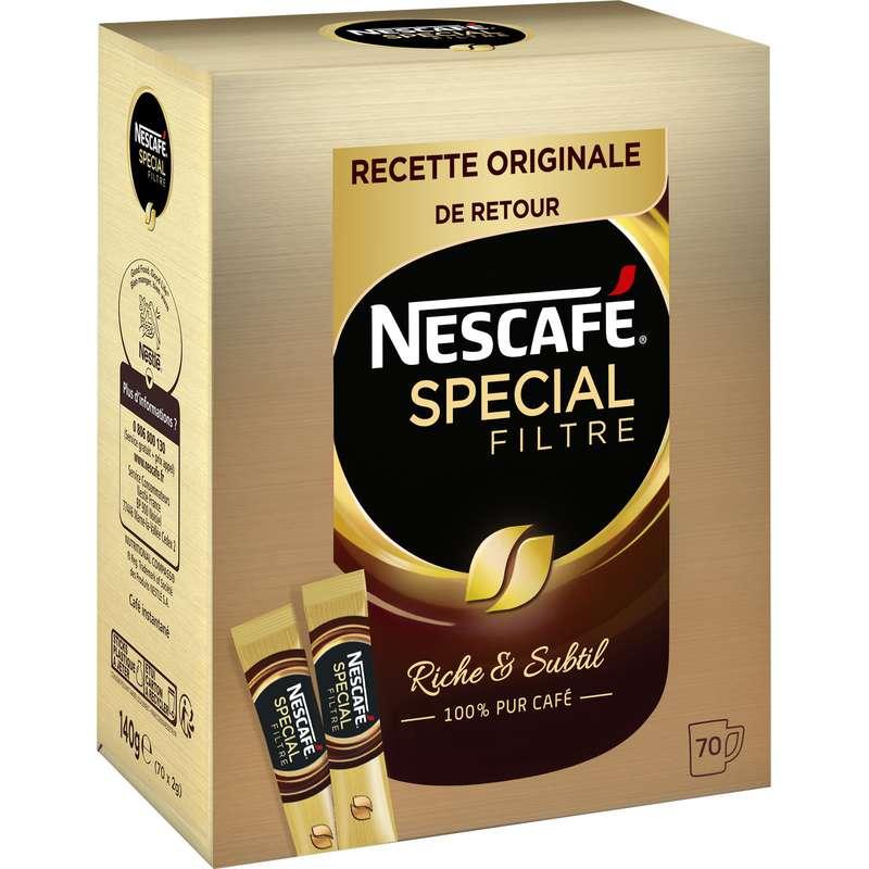 Café soluble spécial filtre, Nescafé (x 70 sticks)