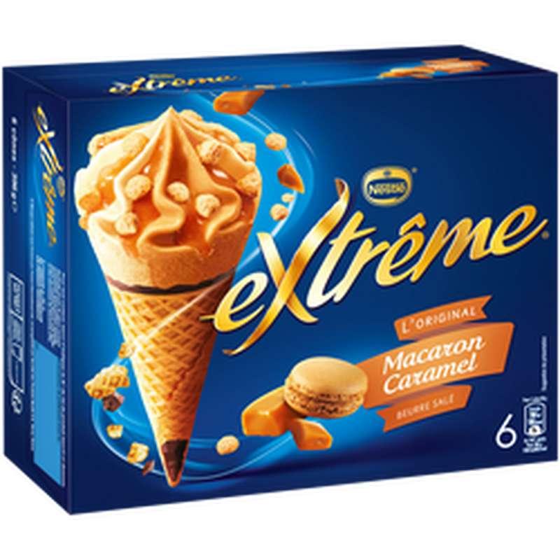 Cônes macaron caramel pointe de sel, Extreme (x 6, 396 g)