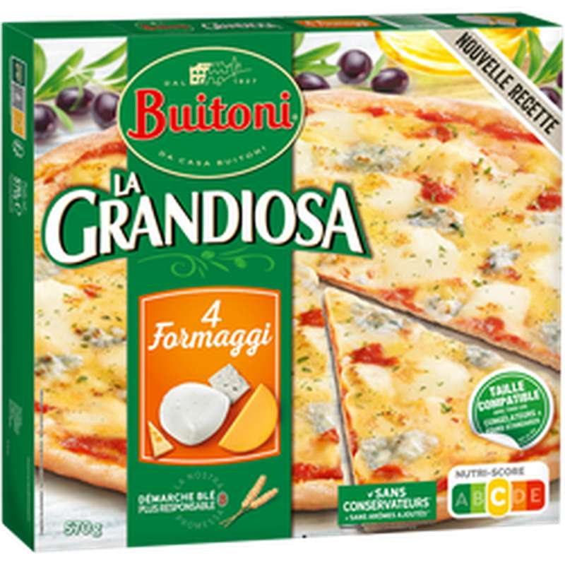Pizza Grandiosa Formaggi generosi, Buitoni (570 g)