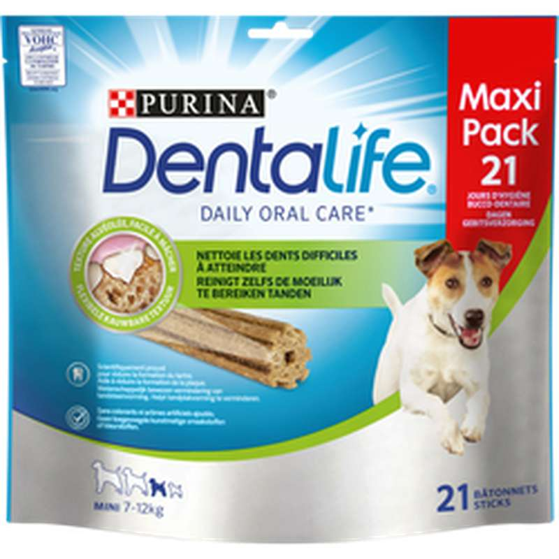 Friandise Dentalife mini chien, Purina (x 21, 345 g)