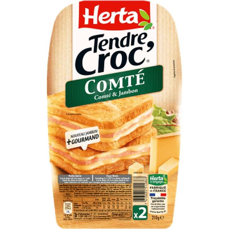 Croque Monsieur Tendre Croc' Comté et jambon, Herta (x 2, 210 g)