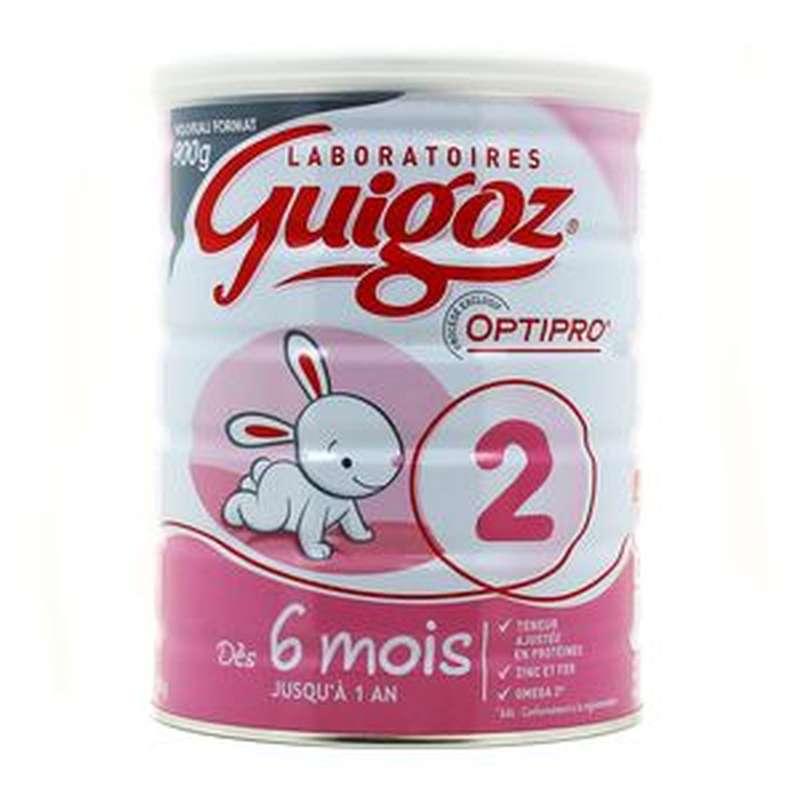 Lait en poudre 2ème âge Optipro - de 6 mois à 1 an, Guigoz (900 g)