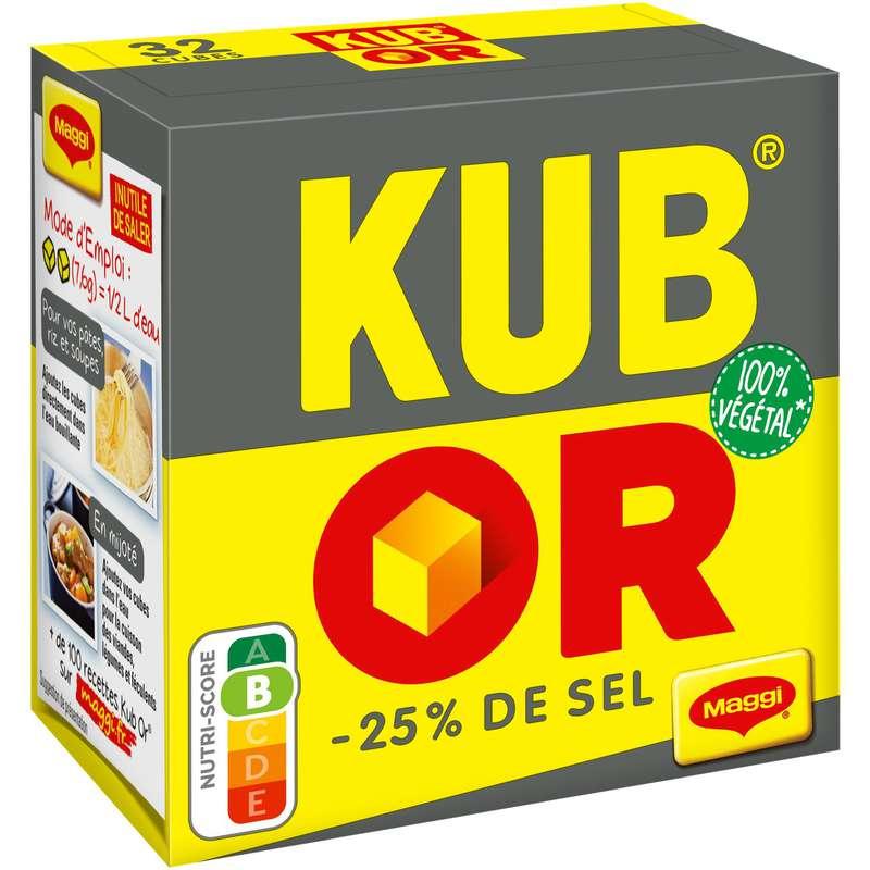 Bouillon en cubes -25% de sel kub or, Maggi (122 g)