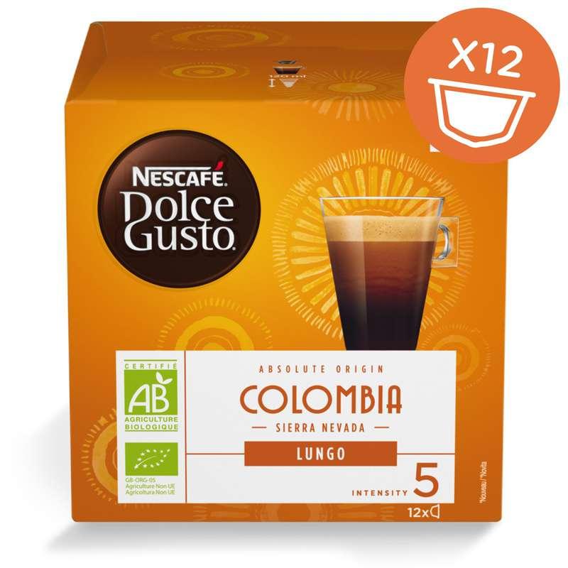 Café capsules Lungo Colombia BIO, Dolce Gusto (x12 dosettes)