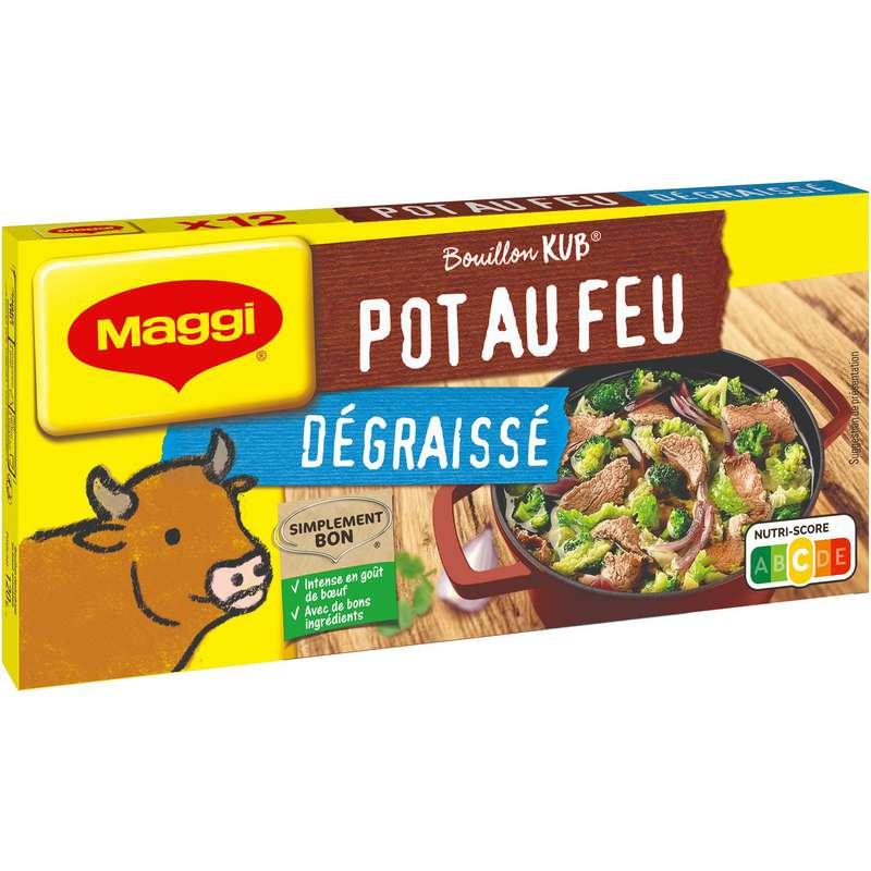 Bouillon pot-au-feu dégraissé, Maggi (x 12)