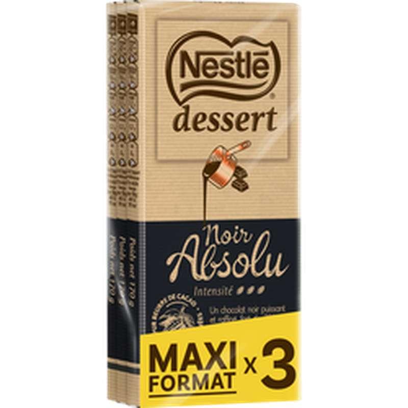 Chocolat noir absolu, Nestle Dessert (3 x 170 g)